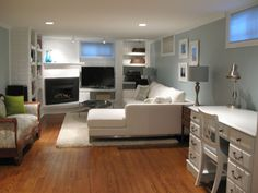Lovely LOVE This Basement Makeover