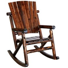 Leigh Country Char-log Porch Rocker Chair - Outdoor Rocking Chairs at Hayneedle