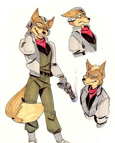 I tried drawing Fox in the style of A Fox in Space ( Fox Character, Character Drawing, Character Design, Star Fox, Nintendo Characters, Cartoon Characters, Fox Mccloud, Fox Games, Wolf