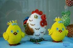 """Пасхальные яйца. Серия """"Куриная семейка""""."""