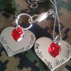 Military Jewelry - Deployment www.myheroskeepsakes.com  www.facebook.com/myheroskeepsakes