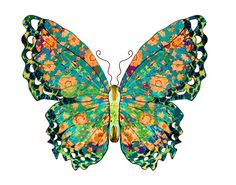 Original Butterfly artwork by award winning California artist Lorac.     Lovely high quality prints are available in size 11x14. Each is individually signed by the artist.