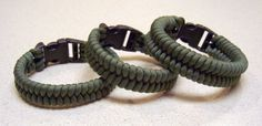 Woven paracord bracelets, one strand two working ends.   Could be given completed or as a kit with instructions.