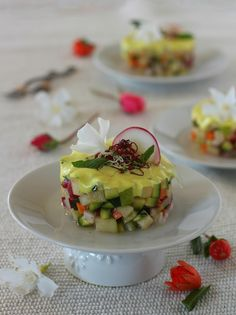 VEGETABLES TARTARE WITH VEGGIE MAYO. A vegan raw appetizer ready in 10 minutes. Healthy, tasty, refined and totally #light.