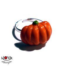 halloween in dawanda Rings – *Ring* Halloween Pumpkin – a unique product by novadesign on DaWanda Halloween Pumpkins, Vegetables, Unique, Rings, Handmade, Etsy, Food, Halloween Gourds, Hand Made