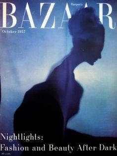 Harper's Bazaar, October 1957   Cover by Richard Avedon