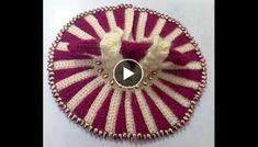 Make two color vertical crochet dress with inner coat and shoulder strips for Bal Gopal part 1 Crochet Flower Tutorial, Crochet Flowers, Bal Gopal, Ladoo Gopal, Africa, Embroidery, Knitting, Shoulder, Coat