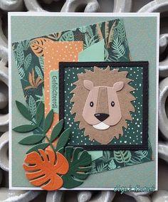 Koning van de jungle Marianne Design Cards, Punch Art, Leeuwen, Diy Cards, Card Making, Blog, How To Make, Inspiration, Safari