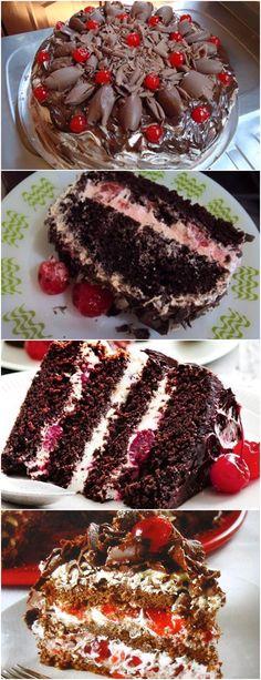 ❤️ Bolo Floresta Negra VEJA AQUI>>>Ferva o açúcar com a água por cinco minutos. Deixe esfriar e adicione o conhaque. #receita#bolo#torta#doce#sobremesa#aniversario#pudim#mousse#pave#Cheesecake#chocolate#confeitaria