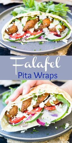 These homemade Falafel wraps are easy to make at home and so flavorful. They're … These homemade Falafel wraps are easy to make at home and so flavorful. They're perfect stuffed in a Pita wrap with vegetables and homemade Tahini sauce. Falafel Wrap, Falafel Pita, Falafels, Falafel Sandwich, Falafel Salad, Baked Falafel, Pita Wrap, Healthy Eating Recipes, Vegetarian