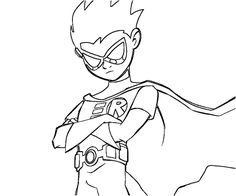how to draw robin from teen titans go step 8 Beautiful