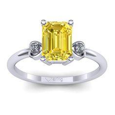 Inel logodna L68ASG cu safir galben si diamante