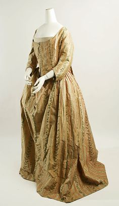 Dress  Date: late 18th century Culture: Italian (probably) Medium: silk Dimensions: [no dimensions available] Credit Line: Gift of The Metropolitan Museum of Art, 1940 Accession Number: C.I.40.173.5
