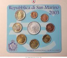 RITTER San Marino, Euro Kursmünzensatz KMS 2003, st #coins