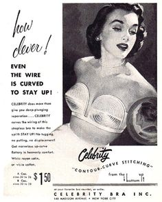 Vintage bra ads 1954