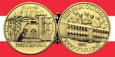1000 Schilling in Gold 50 Jahre 2. Republik in der Serie 1000 Jahre Österreich-Millenium › Investment News