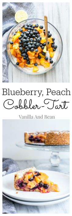 As casual as a cobbler, yet not as fussy as a tart... somewhere in between, this delicious tart makes a gorgeous presentation and a lasting impression. Serve with a scoop of vanilla ice cream! | Vanilla And Bean