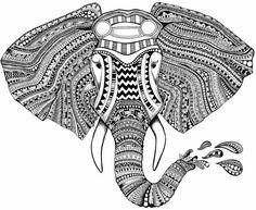 indian elephants patterns - Google Search