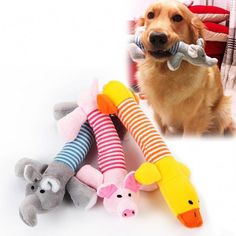 396bf02c1b Dog Cat Pet Chew Toys Canvas Durability Vocalization Dolls Bite Toys for Dog  Accessories pet dog