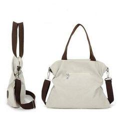 Women Casual Canvas Large Capacity Handbag Outdoor Shoulder Bag - Monica R. Gucci Handbags, Tote Handbags, Cross Body Handbags, Leather Handbags, Tote Bags, Women's Bags, Canvas Shoulder Bag, Leather Shoulder Bag, Shoulder Bags