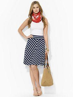 Lace-Up Jersey Skirt - Skirts  Lauren - RalphLauren.com