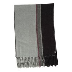 Men's Haggar Woven Striped Scarf, Black