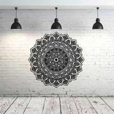 Mandala Wall Decal Yoga Studio Vinyl Sticker Decals Ornament Moroccan Pattern Namaste Lotus Flower Home Decor Wall Decal Bedroom Dorm ZX104