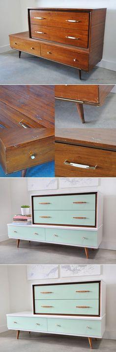 painted vintage dresser @visualheart