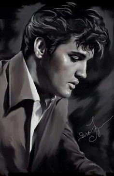 Elvis, artwork by Sara Lynn Sanders