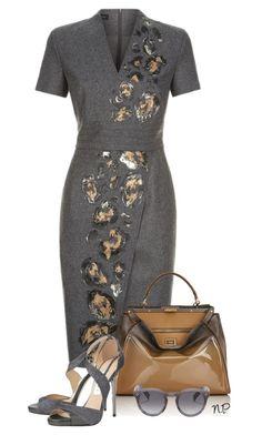 Workwear by nuria-pellisa-salvado on Polyvore featuring moda, ESCADA, Jimmy Choo, Fendi and Illesteva
