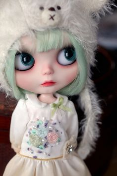 "How adorable... <3 I am not always a fan when a doll always maintains a sad or unsure ""look"". But this one is a cutie."