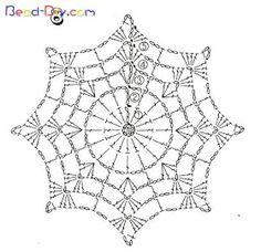 crochet mandala pattern T ii motif rnekleri ve emalar Motif Mandala Crochet, Crochet Snowflake Pattern, Crochet Stars, Crochet Snowflakes, Doily Patterns, Crochet Round, Thread Crochet, Crochet Doilies, Crochet Flowers