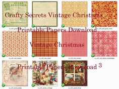 Preview 4 Vintage Christmas Papers