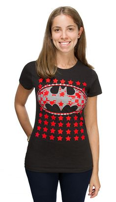 Batman Stars Logo Ladies' Tee