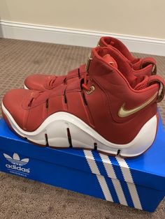 50cfa3df0ef Nike Zoom LeBron 4 IV CHINA 2006 Rare Size 11 Vintage Metallic Red  Cleveland Cav