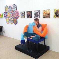 3 Out There Artists: Meet East Bay creatives embracing the fun, joyful side of fine art. BY ROBERT BURNSON. East Bay, Joyful, Mixed Media, Meet, Artists, Fine Art, Club, Button, Creative