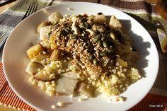 iw-kulinarnie: Kasza jaglana z gruszką, orzechami i ziarnami, Prz...