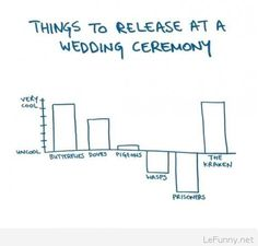 Things to release at a wedding ceremony – Humor | Funny Pictures | Funny Quotes | Funny Jokes – Photos, Images, Pics