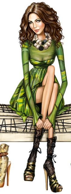 Fashion illustration by Array-Pergamino