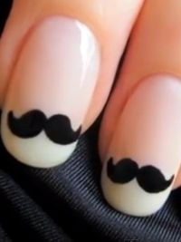 how to make mustache nail art - Google Search