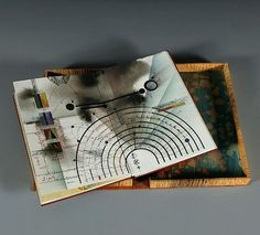 Timothy C. Ely - 'Technical Landscape -handmade book and box' - The Art Spirit Gallery of Fine Art