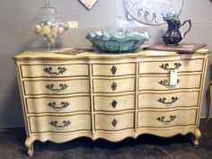 """French Provincial Dresser   Dealer #926  60"""" Wide x 22"""" Deep x 35"""" High   As is $395 or painted $495  Lucas Street Antiques Mall 2023 Lucas Dr.  Dallas, TX 75219  Located close to Dallas'"""