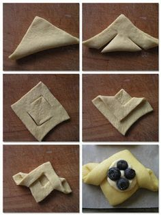 Cream cheese and fruit pastries