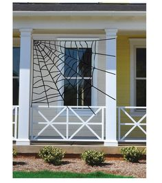 Give your home an exciting Halloween makeover for a themed Halloween party with cool decor accessories like the Makers Halloween Large Corner Spiderweb-Black. Place this Halloween spiderweb over a win