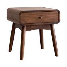Drift off into nostalgic dreams with this chic, mid-century–inspired piece by your side. Handsomely made from solid walnut hardwood and European walnut veneers, this Mondo Nightstand boasts a warm wood...  Find the Mondo Nightstand, as seen in the We Love 1950s Style Collection at http://dotandbo.com/collections/we-love-1950s-style?utm_source=pinterest&utm_medium=organic&db_sku=116637