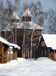 Taltsy town near Baikal lake in Siberia Тальцы - музей деревянного зодчества, один из крупнейших и известнейших в России, как Кижи или Малые Корелы.