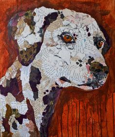 Paper Paintings:  Dalmation - collage by Elizabeth St. Hilaire Nelson