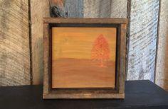 Fall Home Decor, Engraved Wood, Autumn Tree Art, Orange Decor, Reclaimed Wood, Cabin Decor, Office, Turning Leaves, Halloween, Thanksgiving