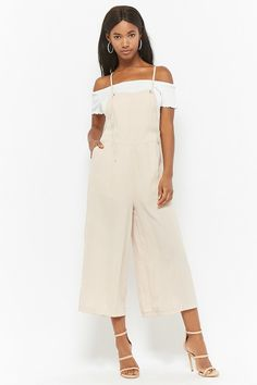 Product Name:Tie-Strap Culotte Overalls, Category:dress, Price:38