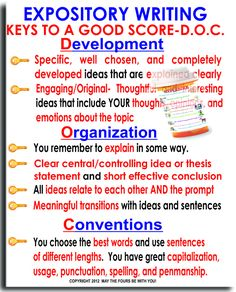 Expository Writing Keys